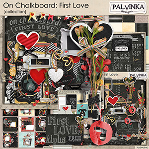 On Chalkboard: First Love Collection