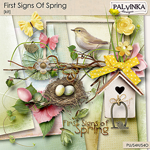 First Signs Of Spring Kit and Alpha
