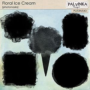 Floral Ice Cream Photomasks