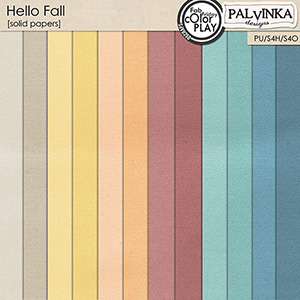 Hello Fall Solid Papers