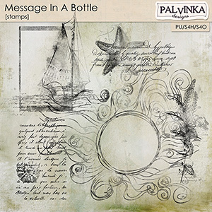 Message In A Bottle Stamps