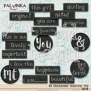 On Chalkboard: Beautiful You WA