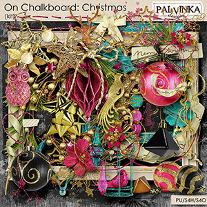 On Chalkboard: Christmas Kit