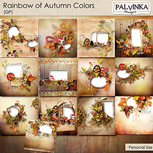 Rainbow of Autumn Colors QP