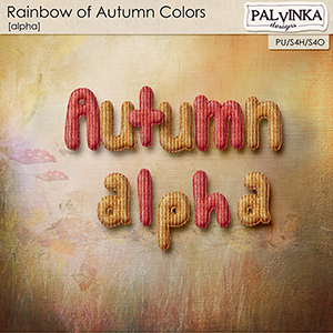 Rainbow of Autumn Colors Alpha