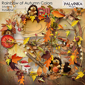 Rainbow of Autumn Colors Clusters