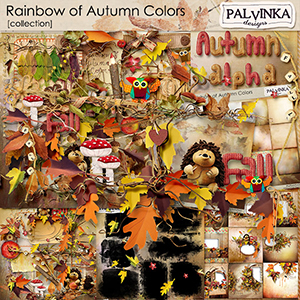 Rainbow of Autumn Colors Collection