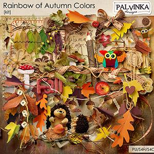 Rainbow of Autumn Colors Kit