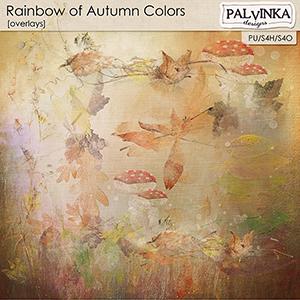 Rainbow of Autumn Colors Overlays