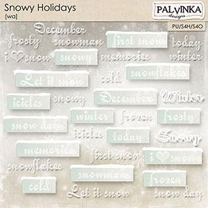 Snowy Holidays WA