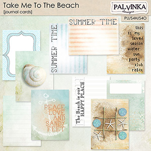 Take Me To The Beach Journal Cards