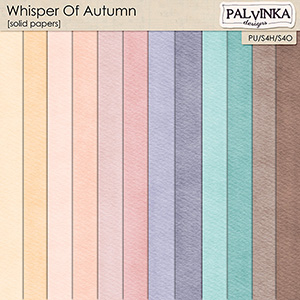 Whisper Of Autumn Solid Papers