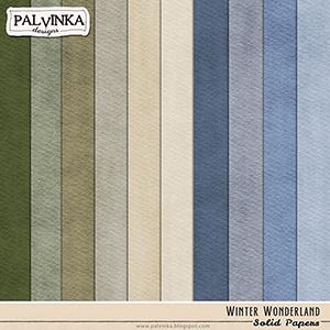 Winter Wonderland Solid Papers