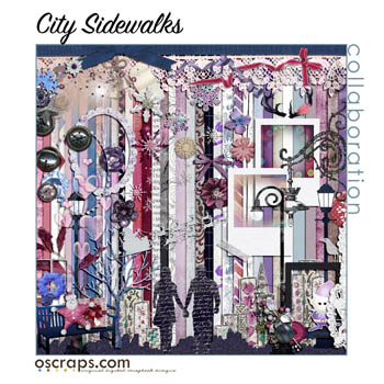 City Sidewalks :: An Oscraps 2014 Collaboration