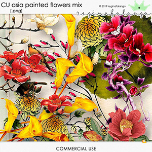 CU ASIA PAINTED FLOWERS MIX