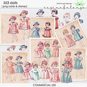 CU 553 DOLLS cards & stamps