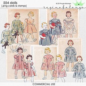 CU 554 DOLLS cards & stamps
