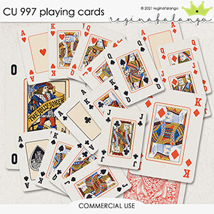 CU 997 PLAYING CARDS