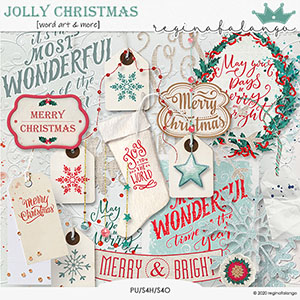 JOLLY CHRISTMAS WORD ART AND MORE