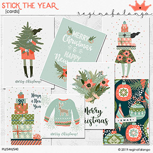 STICK THE YEAR CARDS