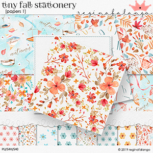 TINY FALL STATIONERY papers 1