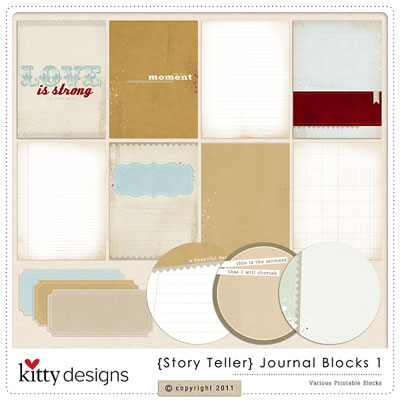{Story Teller} Journal Blocks 1