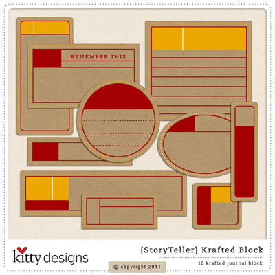 {Story Teller} Krafted Journal Block