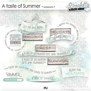 A Taste of Summer (wordarts)