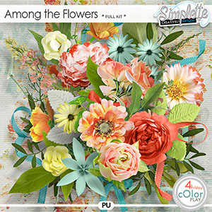 Among the flowers (full kit) by Simplette