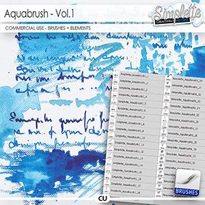Aquabrush (CU elements + brushes) vol.1