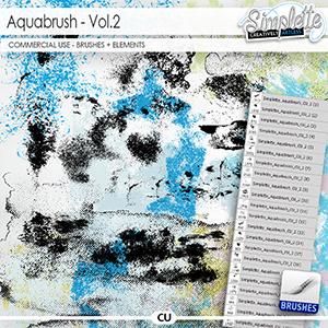 Aquabrush (CU elements + brushes) vol.2
