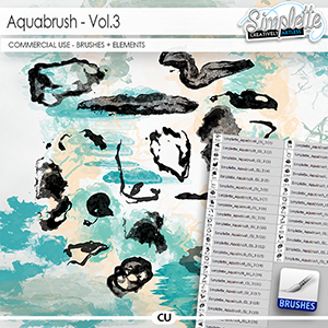 Aquabrush (CU elements + brushes) vol.3