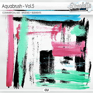 Aquabrush (CU elements + brushes) vol5