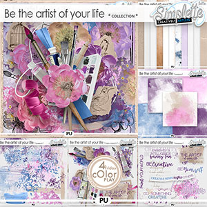Be the artist of your life (collection) by Simplette