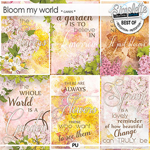 Bloom my world (cards) by Simplette