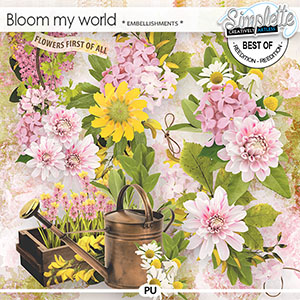 Bloom my world (embellishments) by Simplette