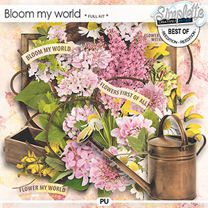 Bloom my world (full kit) by Simplette