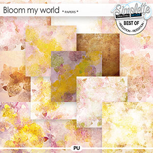 Bloom my world (papers) by Simplette