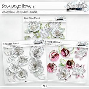 Book page Flowers (CU elements) BUNDLE