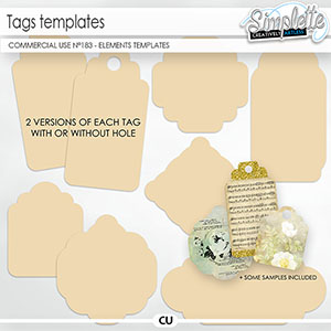 Tags templates (CU elements and templates) 183 by Simplette   Oscraps