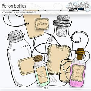 Potion Bottles (CU elements) 184 by Simplette   Oscraps