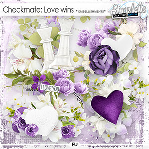 Checkmate : Love wins (embellishments) by Simplette