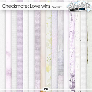 Checkmate : Love wins (papers) by Simplette