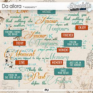 Da Allora (wordarts)