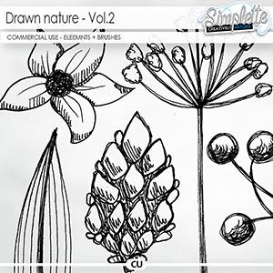 Drawn Nature (CU elements + brushes) - volume 2