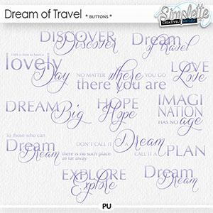 Dream of Travel (wordarts)
