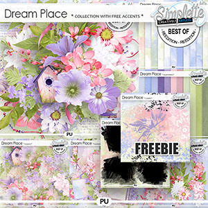 Dream Place (collection with free pack of stamps) by Simplette