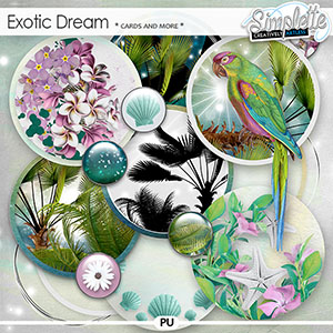 Exotic Dream (cards and more) by Simplette | Oscraps
