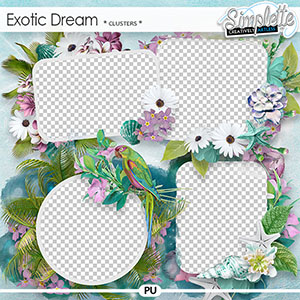 Exotic Dream (clusters) by Simplette | Oscraps