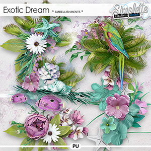 Exotic Dream (embellishments) by Simplette | Oscraps